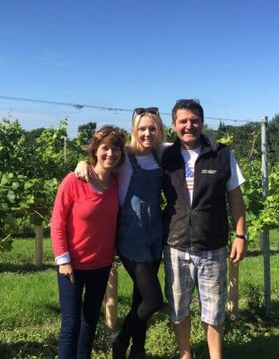 three of us in toppesfield vineyard